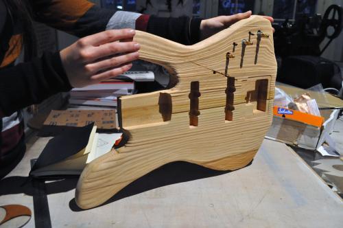 Wooden bass